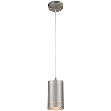 Adjustable Mini Pendant Lights Westinghouse 6101200 Contemporary One Light Adjustable Mini Pendant With Perforated Cylindrical