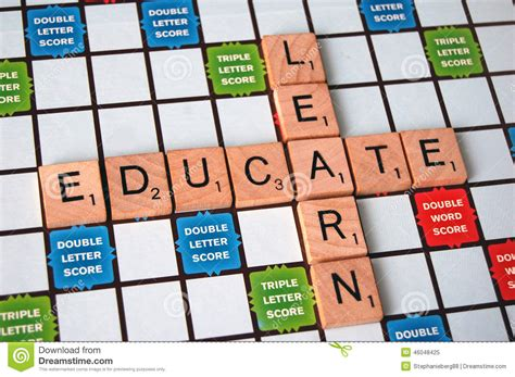 scrabble words with z and w educate and learn stock image image of academic