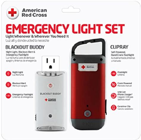 red cross emergency lights american red cross emergency light set provides light
