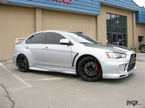 white mitsubishi lancer with black rims mitsubishi lancer evolution gsr niche targa h14 wheels