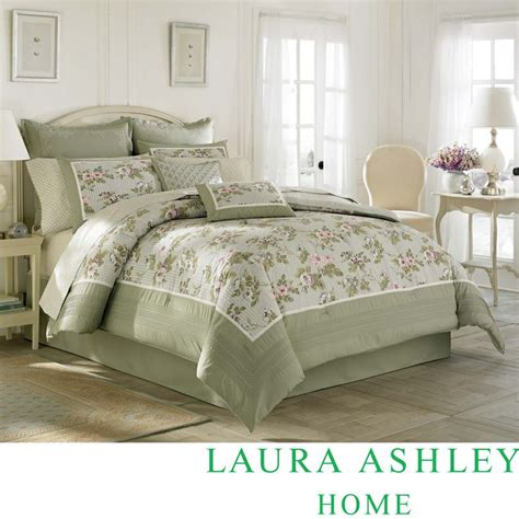 laura ashley berkley comforter set laura ashley avery traditional cotton 4 piece comforter