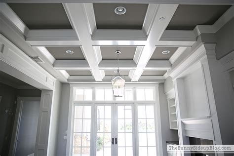 coffered ceiling paint ideas our formal living room blank slate the side up