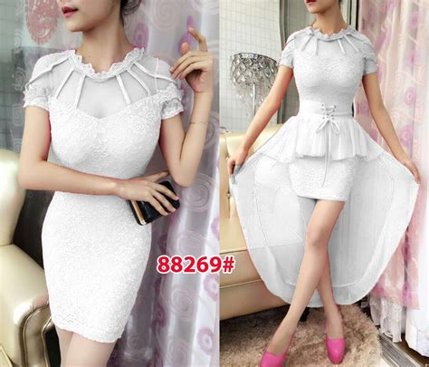 Dress Import Murah 1806 White mini dress import 88269 white grosir tanah abang baju