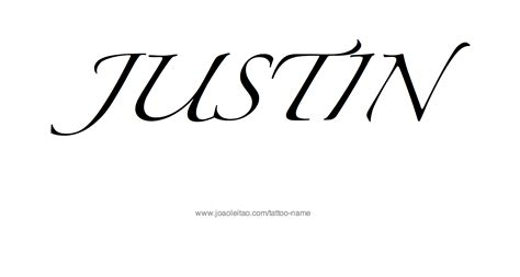 justin name tattoo designs justin name designs