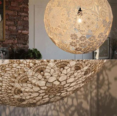 laras oficina techo fancy diy doily light simple suspended sphere lace l
