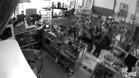 oakland earthquake security footage from swapshop home