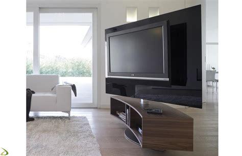 mobile tv design porta tv curvo e girevole odeon arredo design