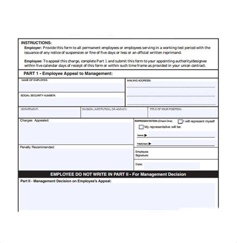 employee write up form template sle employee write up form 7 documents in pdf