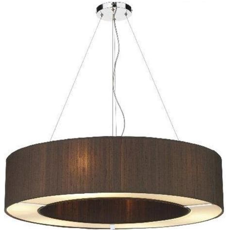 Circular Pendant Light Circular Nutmeg Brown Silk Ceiling Pendant Light With Diffuser