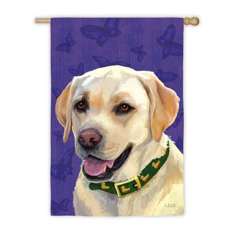 labrador dog house yellow lab labrador dog outdoor house garden flag decorative 12 5 quot x 18 quot ebay