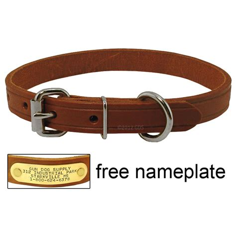 small leather collars 3 4 in leather standard puppy small collar 5 99