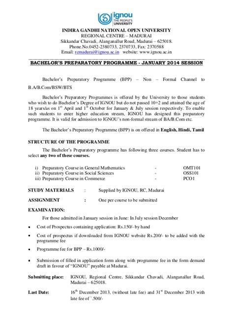Ignou Mba Marksheet by Ignou Bachelors Degree Programme