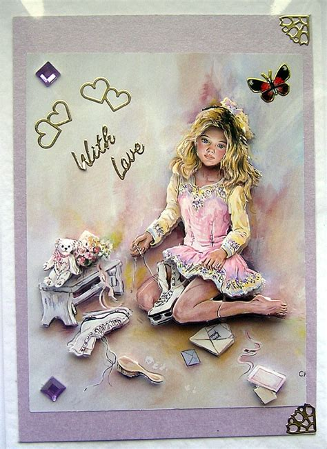 3d Decoupage - dreams crafted 3d decoupage card with