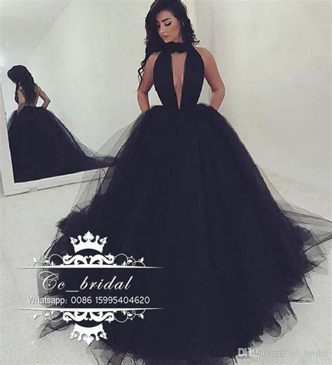 best black dress halter backless black prom dresses 2017 new