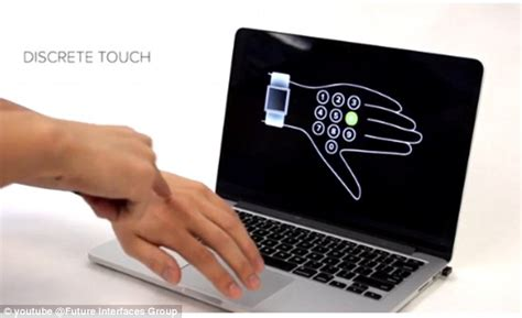 new technology could turn your skin into a touch screen skintrack gadget turns the skin on your arm into a