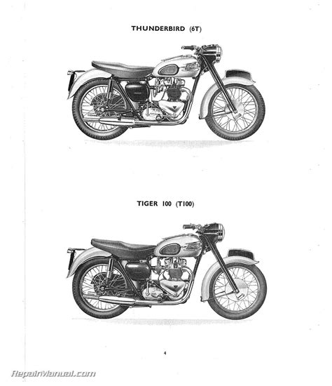 1959 67 triumph bonneville t120 tr6 tiger engine stainless 1959 triumph 6t t100 t110 t120 tr6 motorcycle parts manual