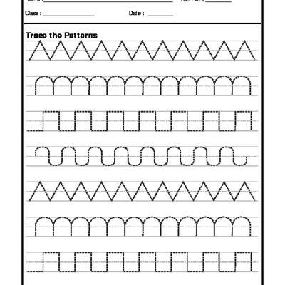 pattern writing for nursery pdf a2zworksheets worksheets of pattern writing english