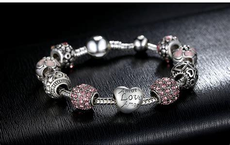 Sale Gelang Wanita Charm Bead Pink gelang wanita bead pink jakartanotebook