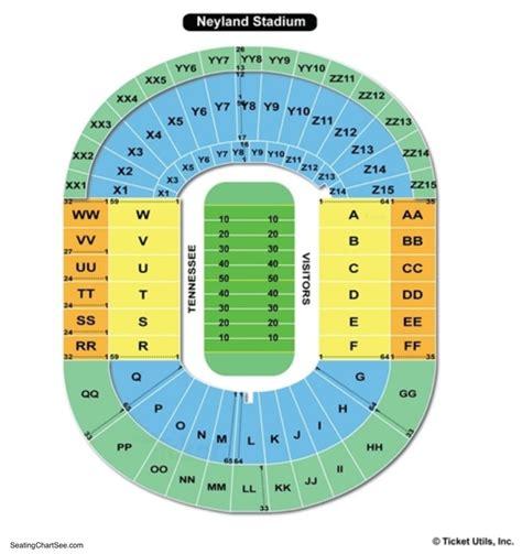 Stadium Seating by Neyland Stadium Seating Chart Seating Charts Tickets