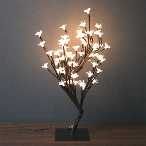 electric tree lights creative motion 12874 17 71 quot h led white cherry blossom