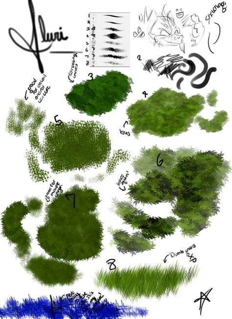 paint tool sai leaf brush my foliage brushes by flurious on deviantart