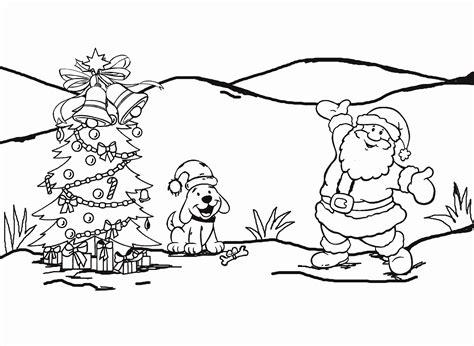 3 gambar mewarnai pohon natal dan santa claus w8lu