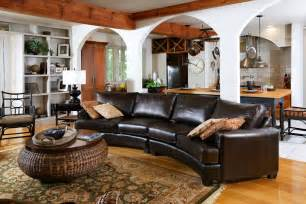 lovely curved leather sectional sofa decorating ideas