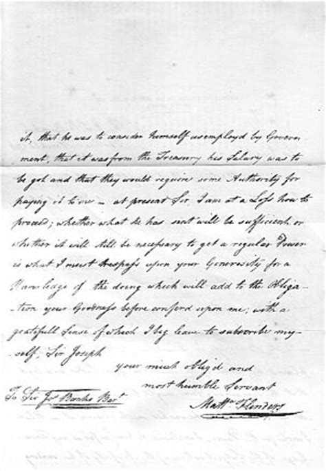 Release Letter Flinders The Of Captain Matthew Flinders R N
