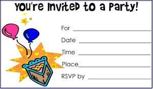 kid printables free printable birthday invitations