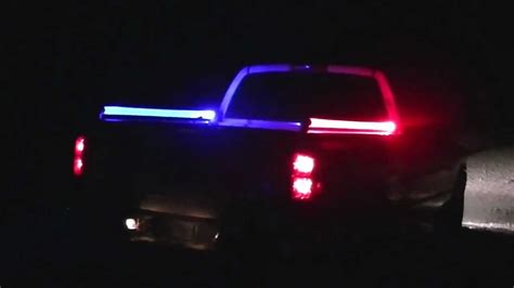 truck bed led lights pickup truck bed rails led light rails youtube