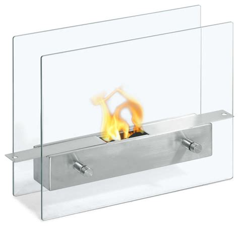 tab double sided ventless ethanol fireplace modern