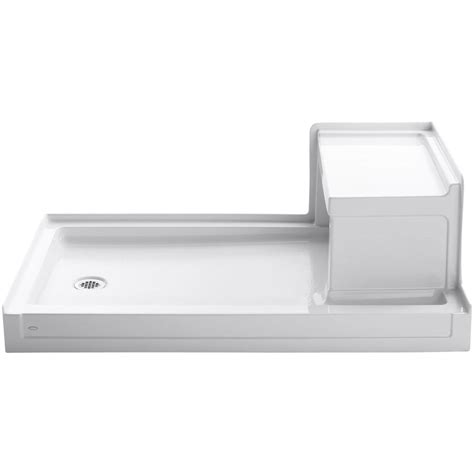 30 X 60 Shower Base With Seat by 60 X 30 White Cast Iron Shower Base With Seat And Left