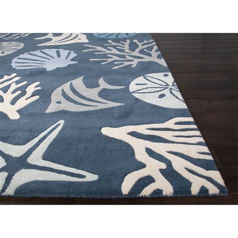 Seaside Area Rugs Jaipurliving Coastal Seaside Tufted Blue Ivory Area Rug Wayfair