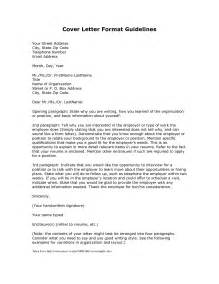 Cover Letter Format by Cover Letter Format Creating An Executive Cover Letter