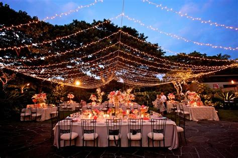 Lu Natal Twinkle Light 100led White twinkle light canopy at garden lawn four seasons resort hualalai weddings garden lawn