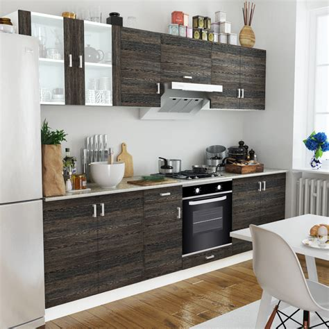 wenge kitchen cabinets wood wenge look kitchen cabinet unit with built in oven 6