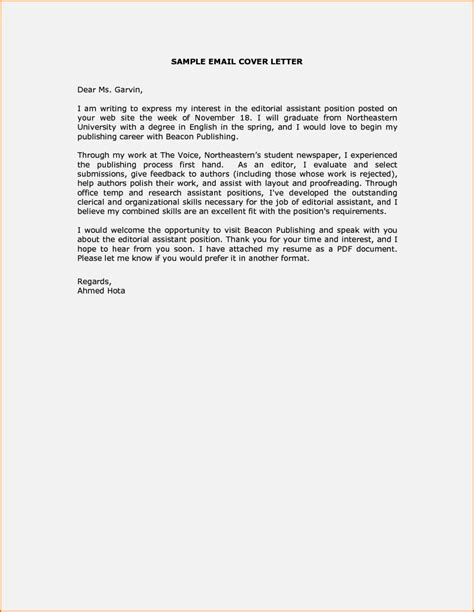 how to mail a resume and cover letter cover letter sle email message resume template