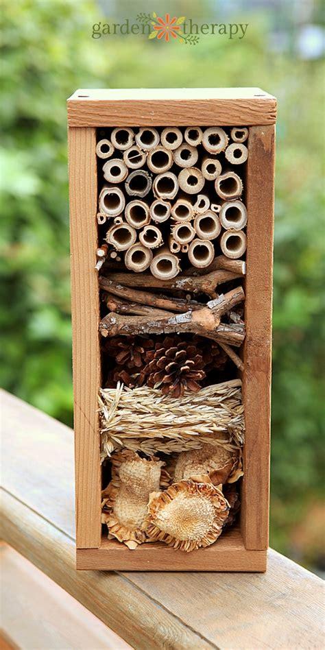 build a bug hotel garden therapy