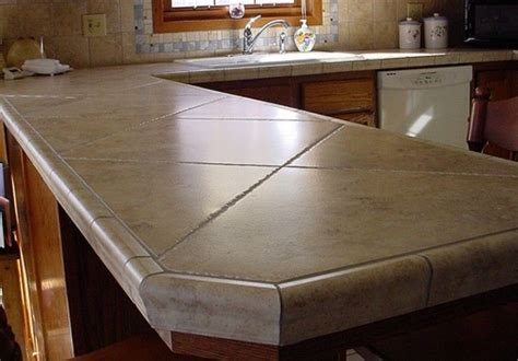 Porcelain Tile For Countertops Design Decoration I Like Tiled Countertops Especially Like The Use Of Thes Larger Tiles On An Angle