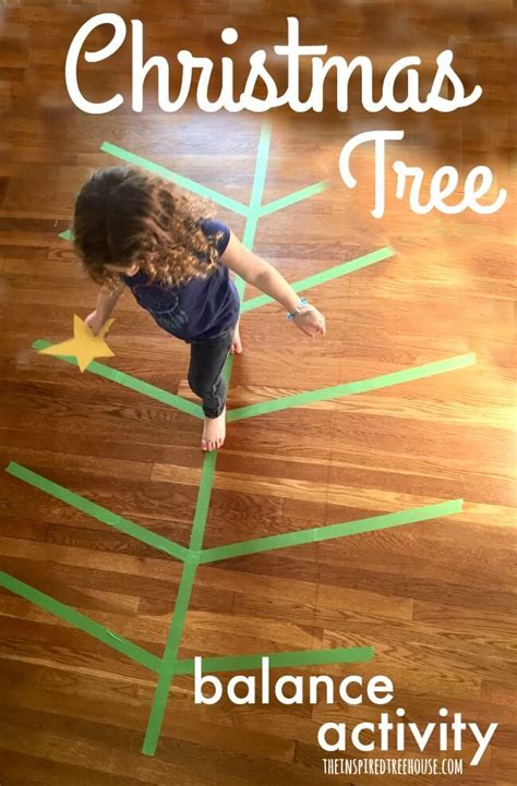 large group preschool christmas activities activities tree balance activity the inspired treehouse