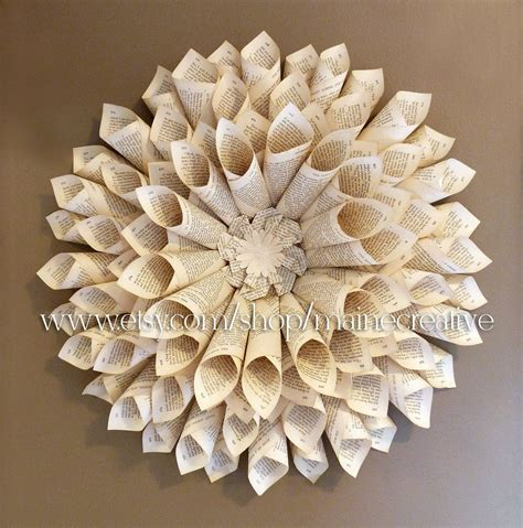 bookpage wallflower  dimensional eco friendly recycled