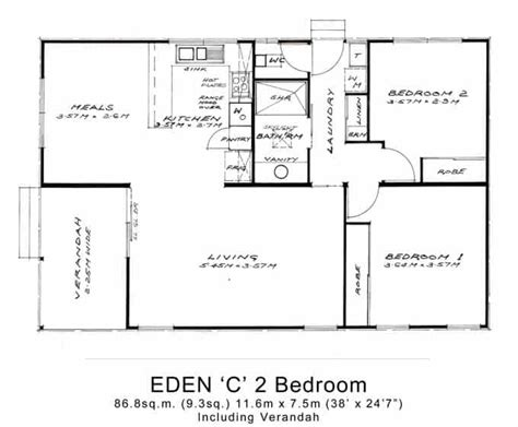 floor plan of a two bedroom flat 2 bed granny flats large willow grove