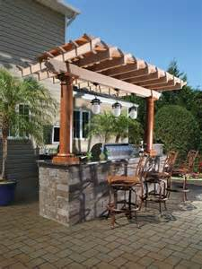 Outdoor Kitchen Pergola Ideas by 70 Awesomely Clever Ideas For Outdoor Kitchen Designs
