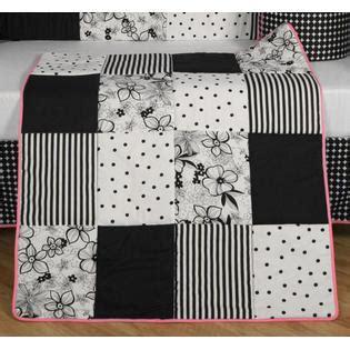 geenny black white flower dot 13pcs crib bedding set