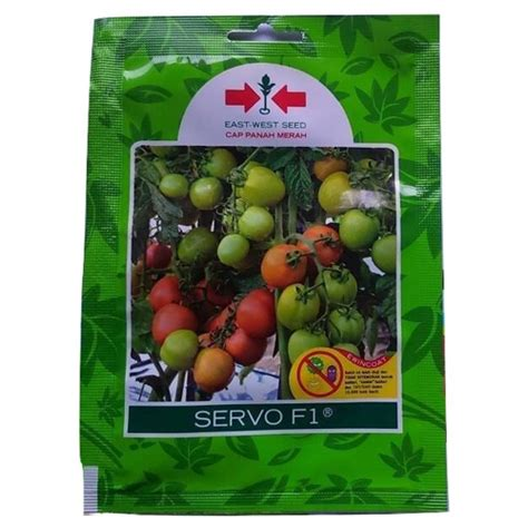 Biji Benih Buah Tomat 150 Isi 2 Biji jual benih tomat servo f1 150 biji murah bibitbunga