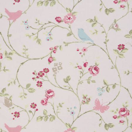 bird pattern fabric uk bird trail fabric in rose