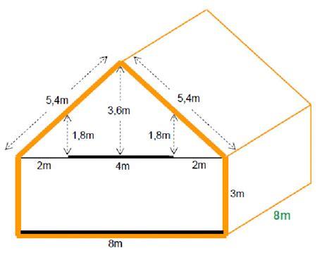 calcul pente de toit 5452 comment calculer une pente de toit rev 234 tements modernes
