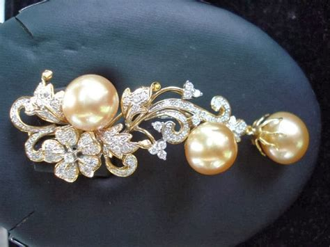 Set Perhiasan Mutiara Air Tawar Mutiara Lombok Rodium perhiasan mutiara air laut holidays oo