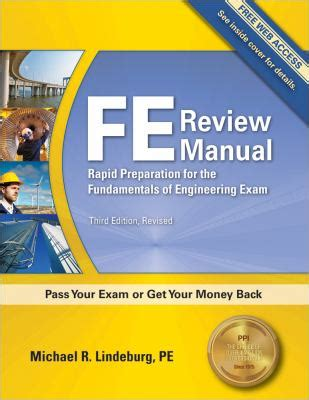 fe review manual  michael  lindeburg reviews description  isbn