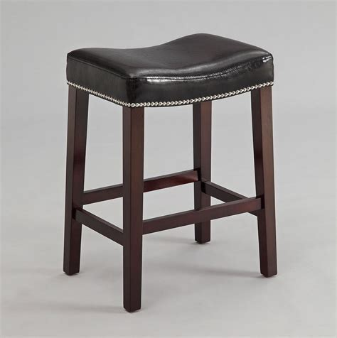 24 Inch Black Stools by 24 Inch Saddle Stool Black Set Of 2 Crown